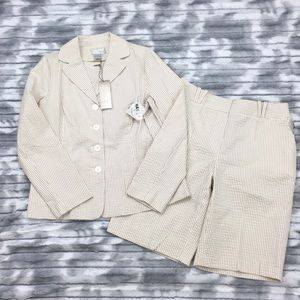 NWT Spiegel Stretch Seersucker Suit